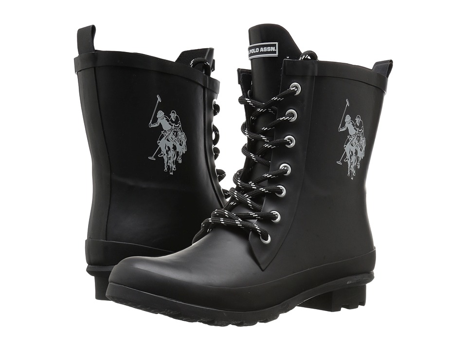 U.S. POLO ASSN. - Jacky (Black/White) Women's Boots