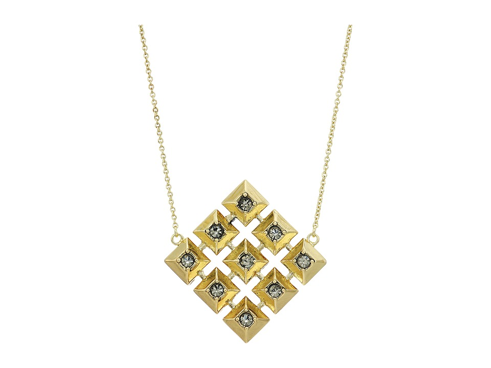 House of Harlow 1960 - The Lyra Pendant Necklace (Gold) Necklace