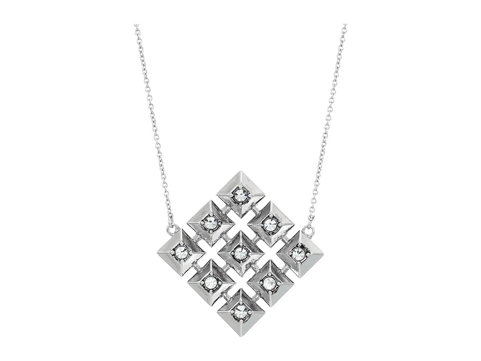 House of Harlow 1960 - The Lyra Pendant Necklace (Silver) Necklace