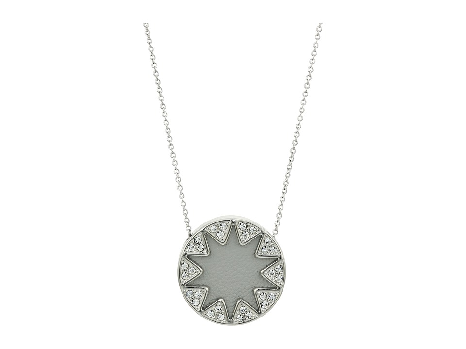 House of Harlow 1960 - Mini Pav Sunburst Necklace (Grey/Silver) Necklace