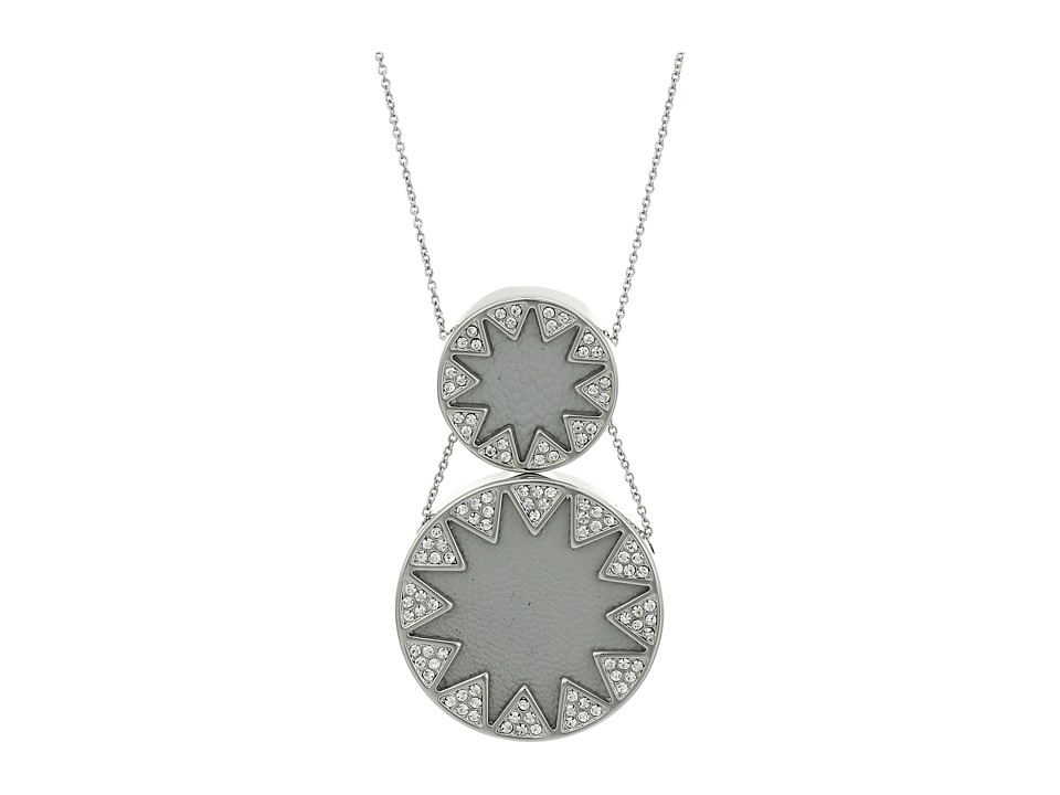 House of Harlow 1960 - Double Sunburst Necklace (Silver) Necklace