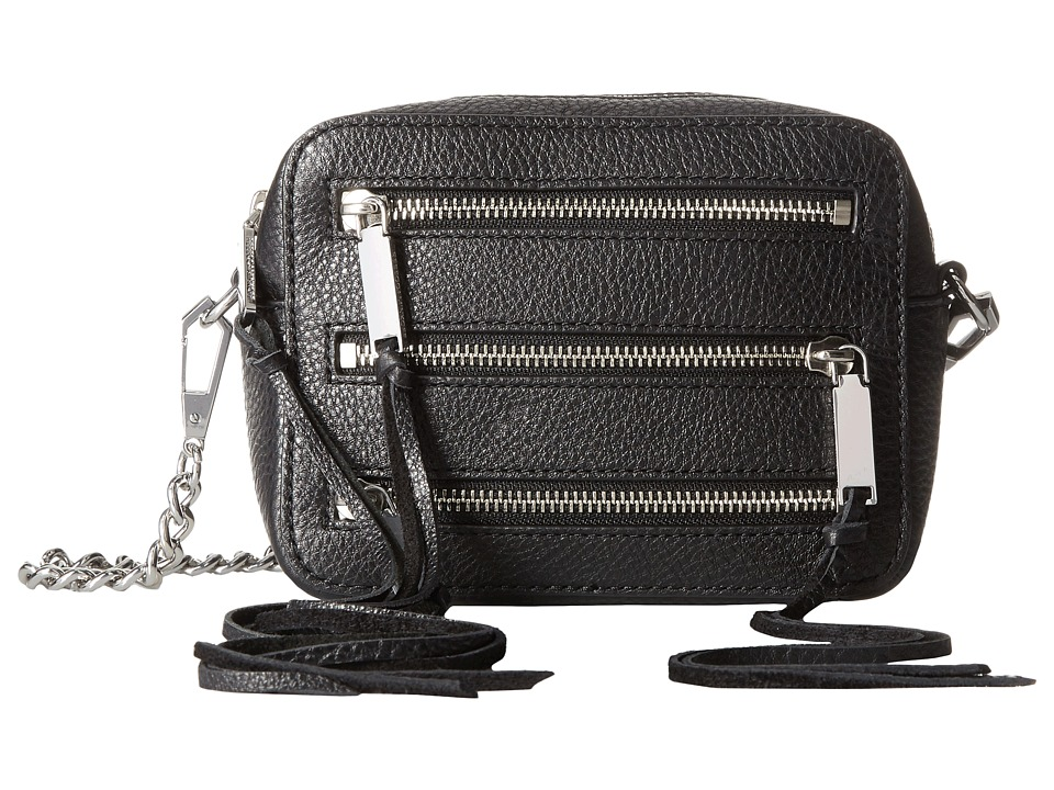 Rebecca Minkoff - 4 Zip Moto Camera Bag (Black) Bags