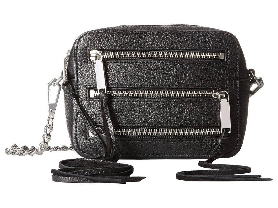Rebecca Minkoff - 4 Zip Moto Camera Bag (Black) Bags