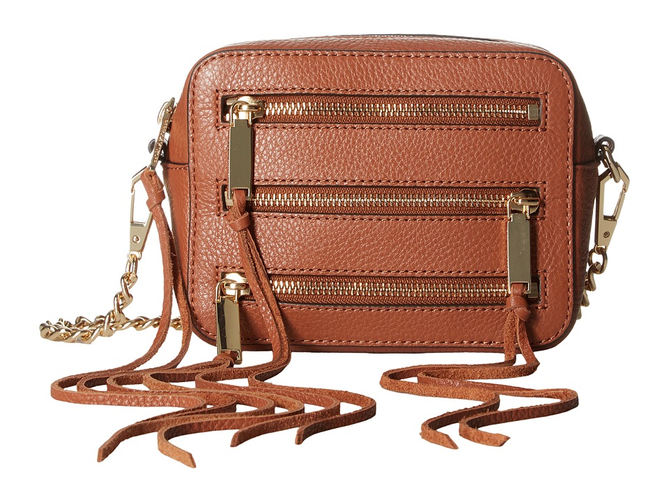 Rebecca Minkoff - 4 Zip Moto Camera Bag (Almond) Bags