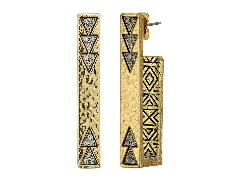 House of Harlow 1960 - Scutum Bar Earrings (Gold) Earring