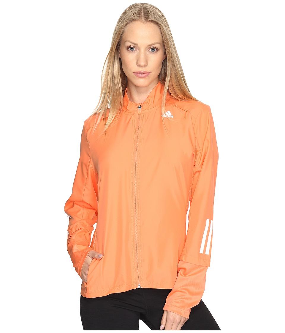 adidas - Response Wind Jacket (Easy Orange) Women's Coat
