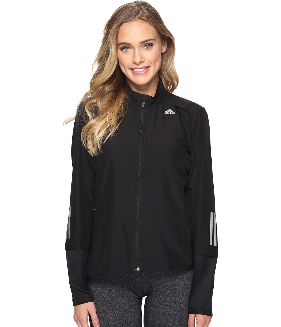 adidas - Response Wind Jacket (Black) Women's Coat