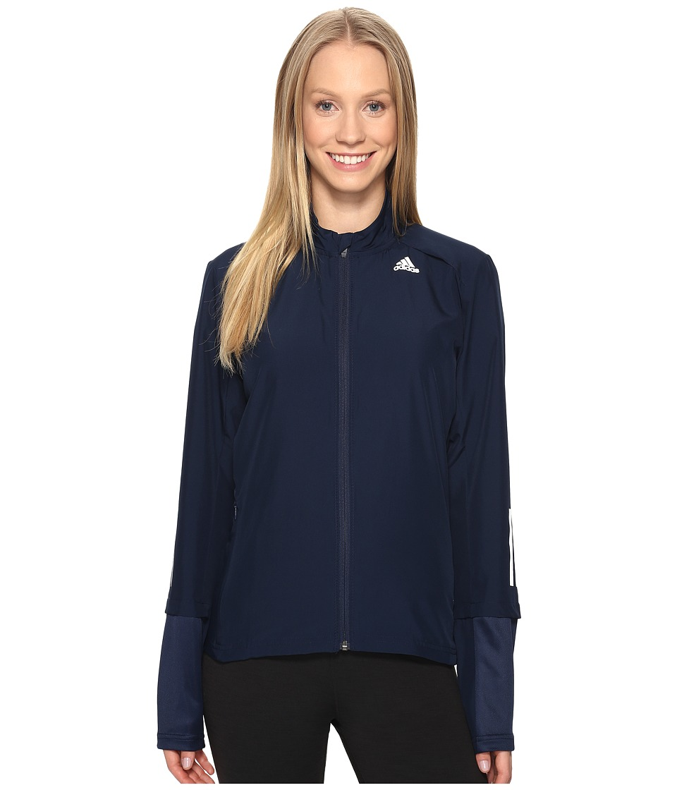 adidas - Response Wind Jacket (Collegiate Navy) Women's Coat