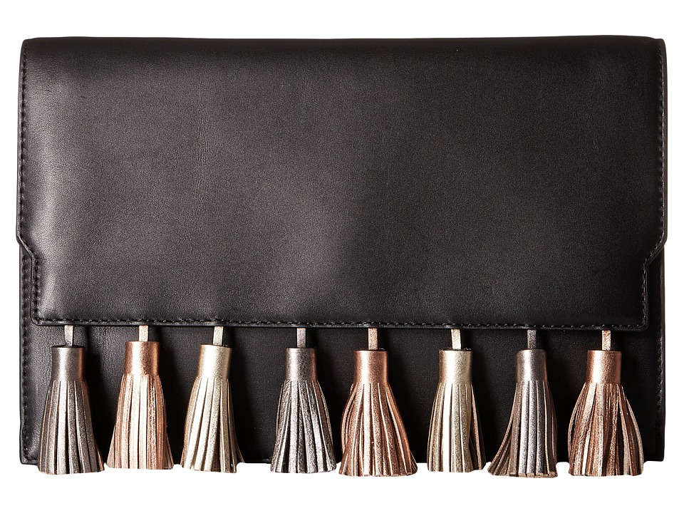 Rebecca Minkoff Sofia Clutch (Black Metallic Multi) Clutch Handbags