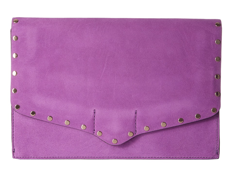 Rebecca Minkoff Biker Clutch (Purple Rain) Clutch Handbags