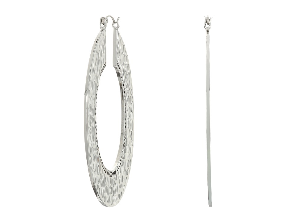 House of Harlow 1960 - Helicon Hoop Earrings (Silver) Earring