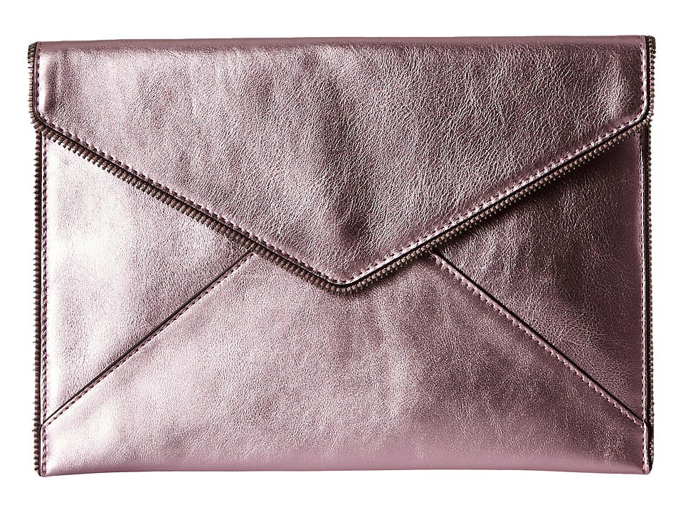 Rebecca Minkoff - Metallic Leo Clutch (Metallic Pink) Clutch Handbags