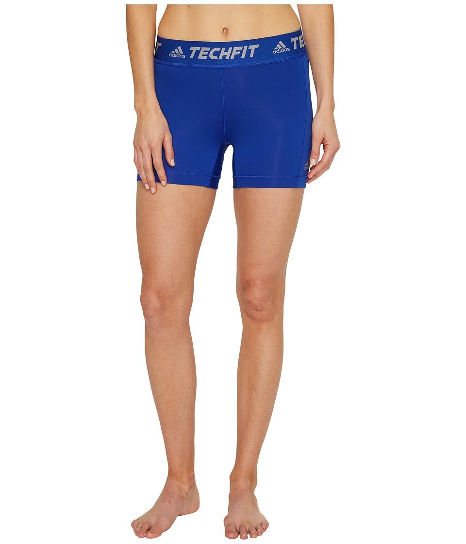 adidas Techfit Base Short Tights (Bold Blue) Women