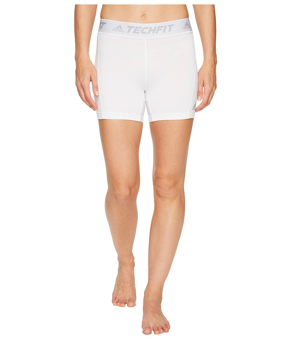 adidas - Techfit Base Short Tights (White) Women's Shorts