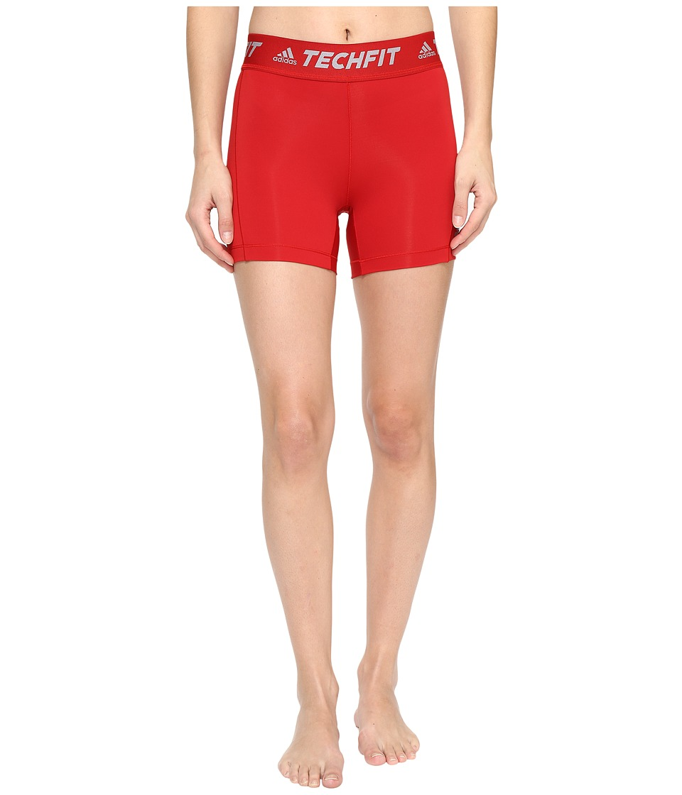 adidas - Techfit Base Short Tights (Power Red) Women's Shorts