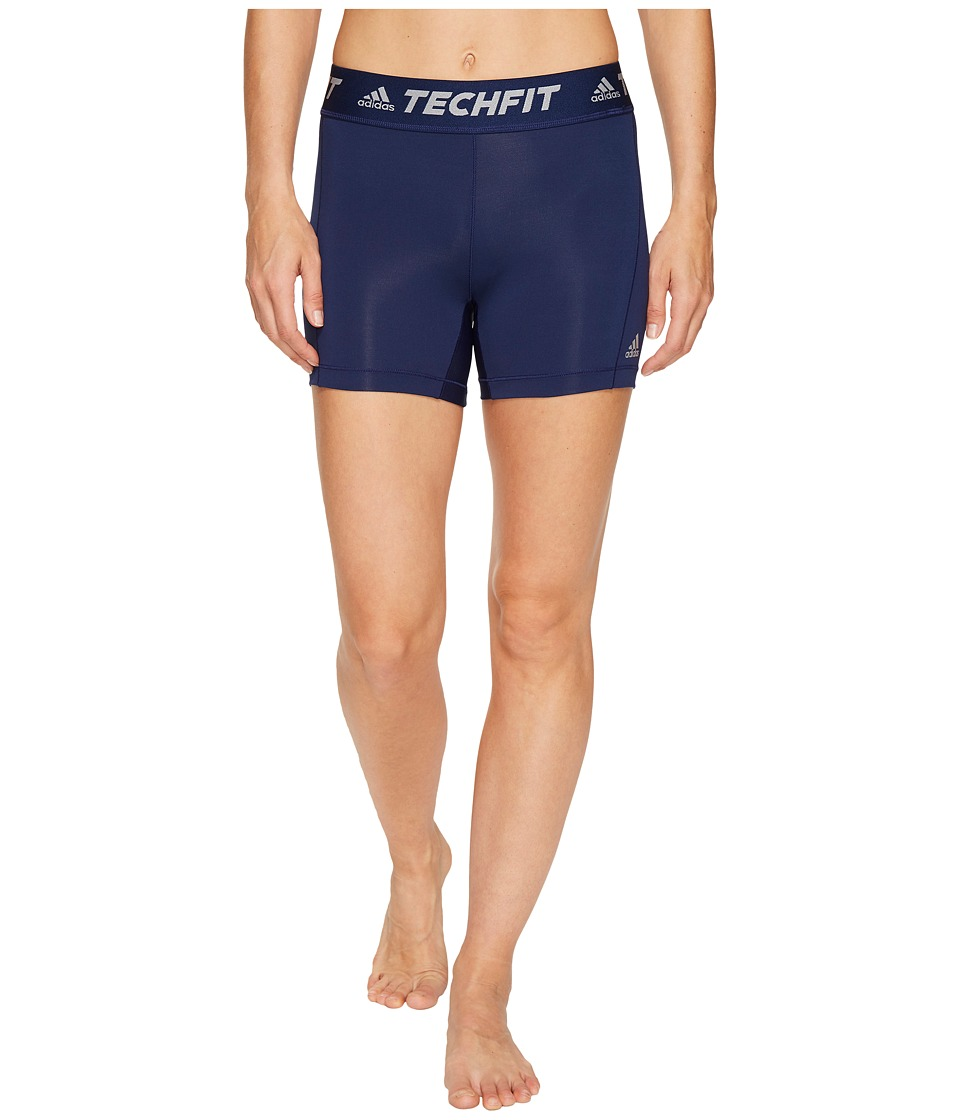 adidas - Techfit Base Short Tights (Dark Blue) Women's Shorts