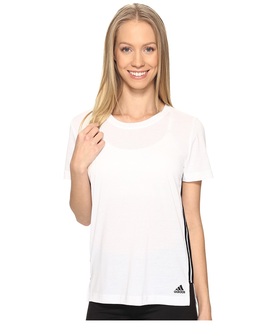 adidas - Show Your Stripes Tee (White) Women's T Shirt