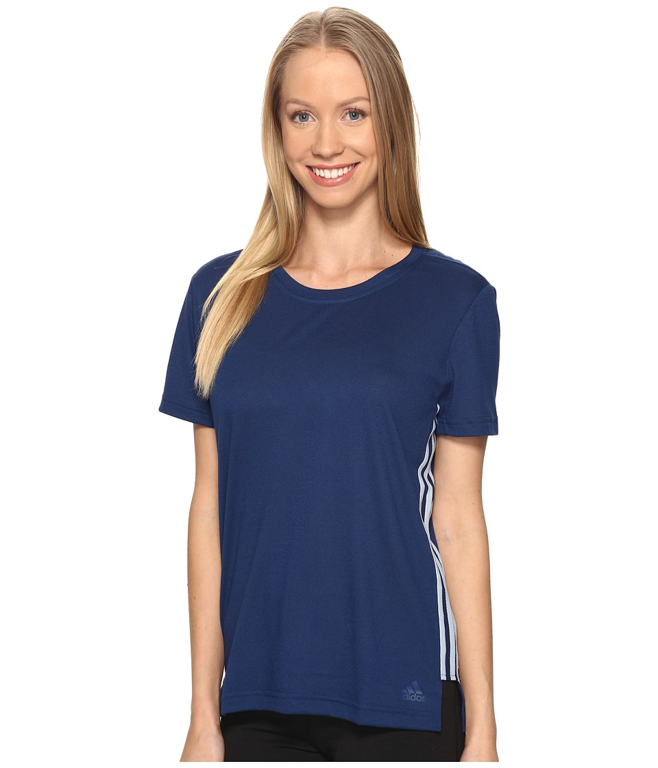 adidas - Show Your Stripes Tee (Mystery Blue) Women's T Shirt