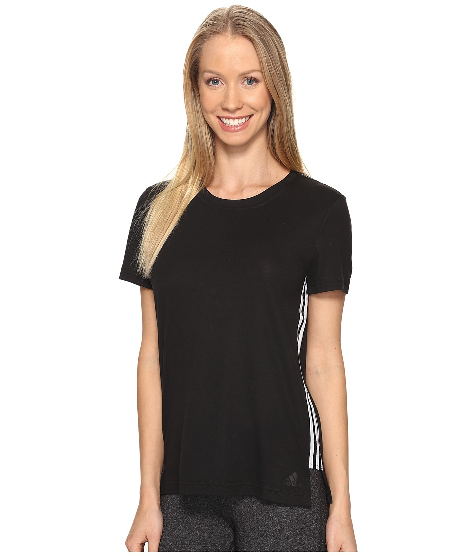 adidas - Show Your Stripes Tee (Black) Women's T Shirt