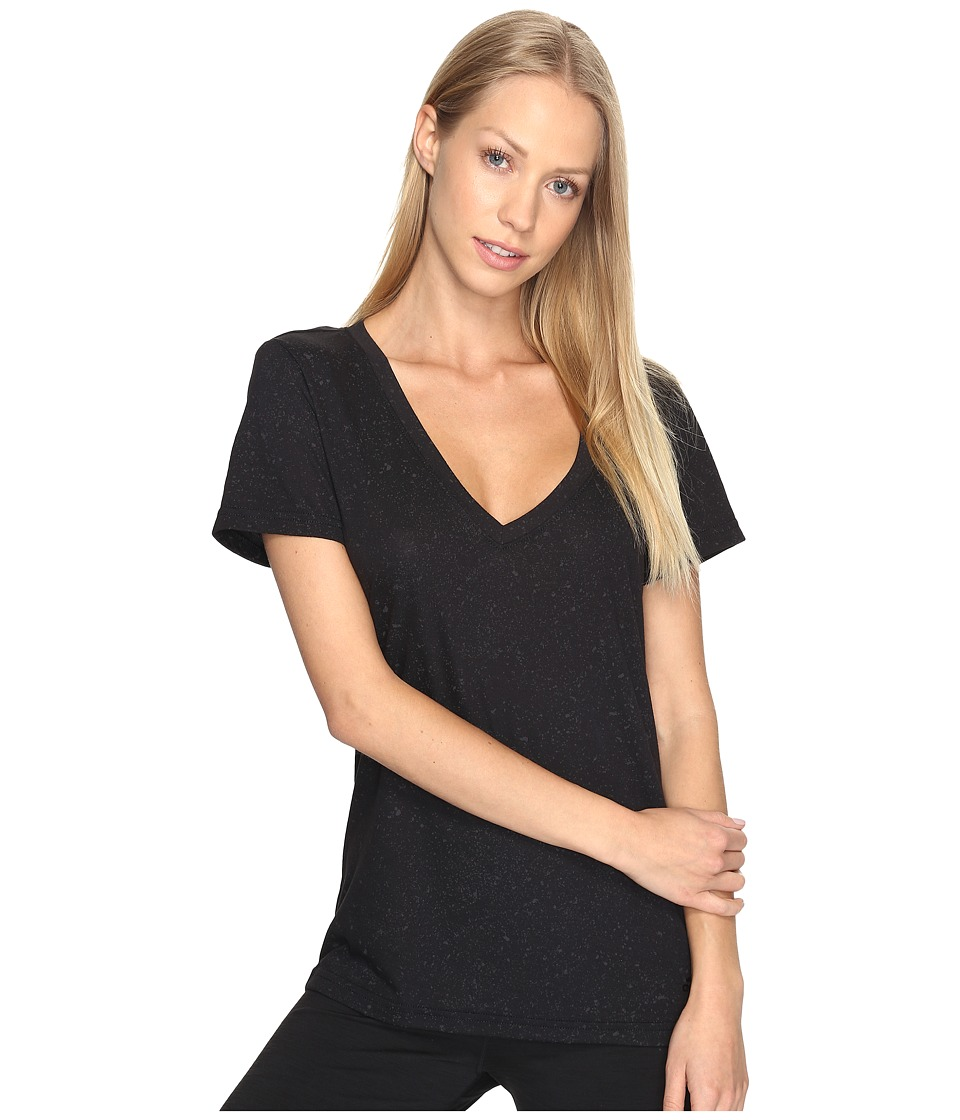 adidas - Flecks Deep-V Tee (Black) Women's T Shirt