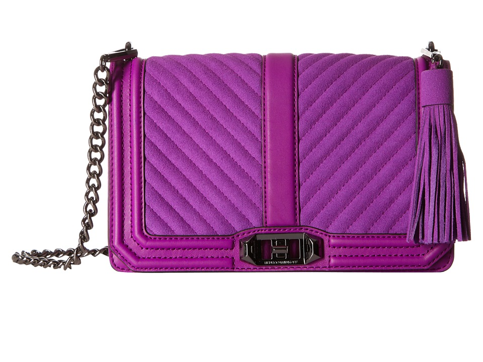 Rebecca Minkoff - Love Crossbody with Tassel (Purple Rain) Cross Body Handbags
