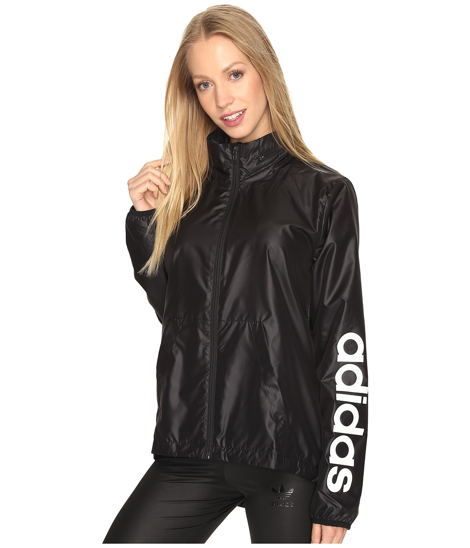 adidas - Linear Windbreaker (Black) Women's Coat