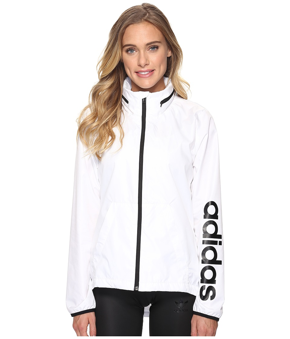 adidas - Linear Windbreaker (White) Women's Coat