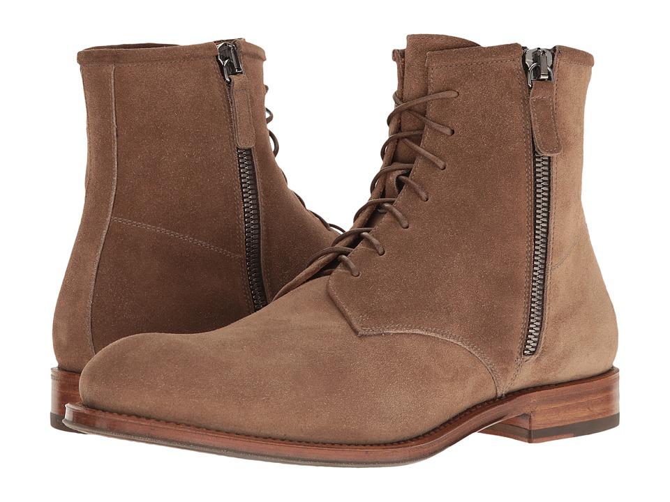 Aquatalia - Victor (Taupe Dress Suede) Men's Zip Boots