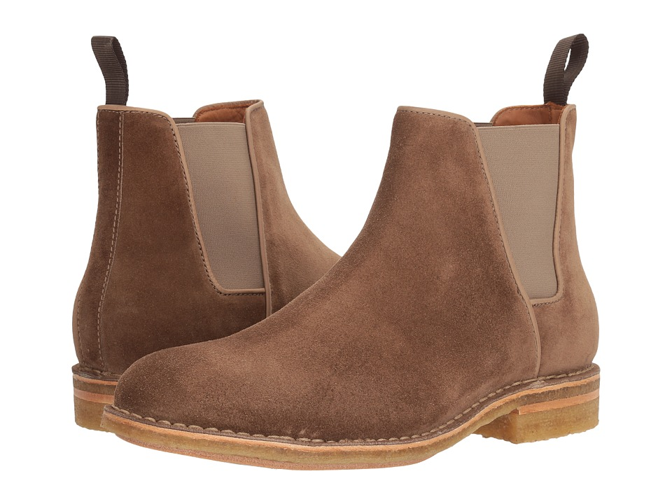 Aquatalia - Oscar (Taupe Dress Suede) Men's Boots