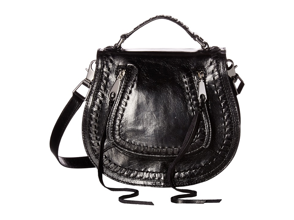 Rebecca Minkoff - Small Vanity Saddle (Black) Bags