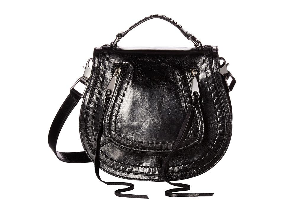 Rebecca Minkoff - Small Vanity Saddle (Black) Bags
