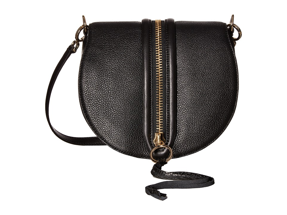 Rebecca Minkoff - Mara Saddle Bag (Black) Handbags