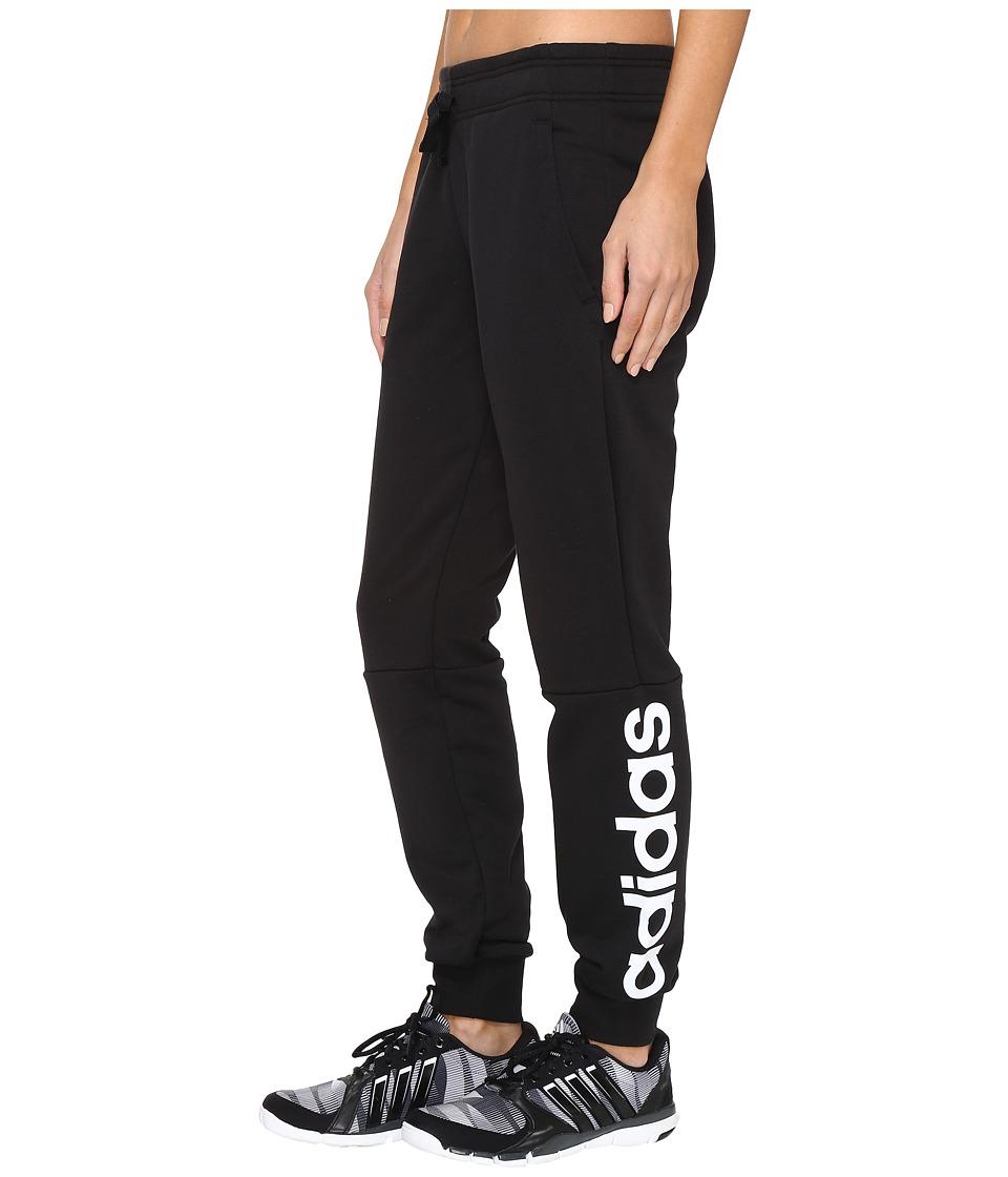 adidas - Essentials Linear Pants (Black/White) Women's Casual Pants