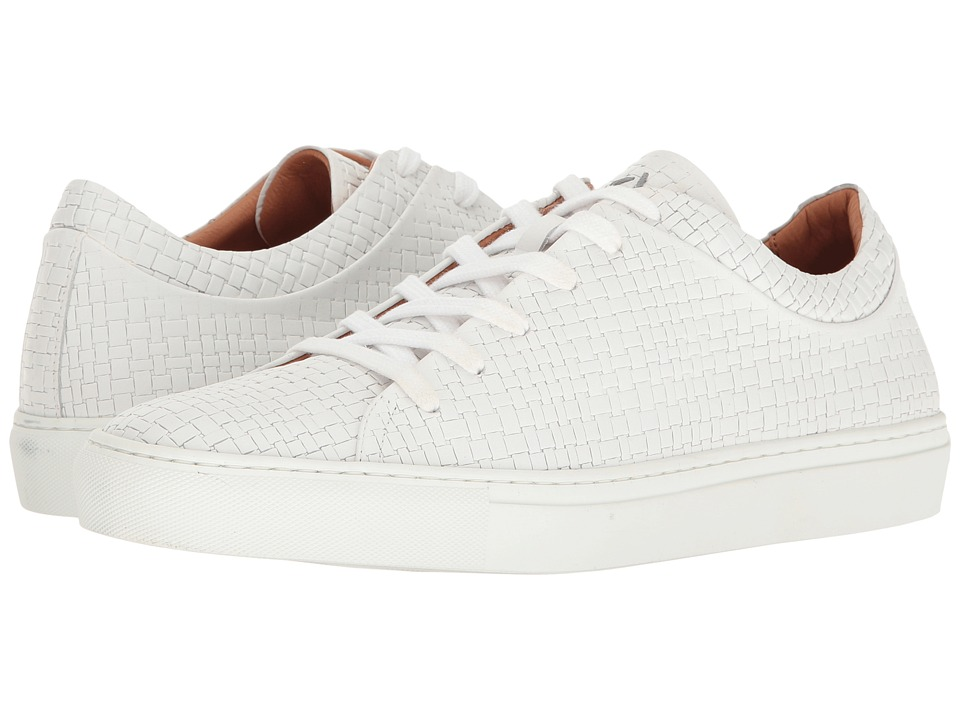 Image of Aquatalia - Alaric (White Embossed Calf) Men's Lace up casual Shoes