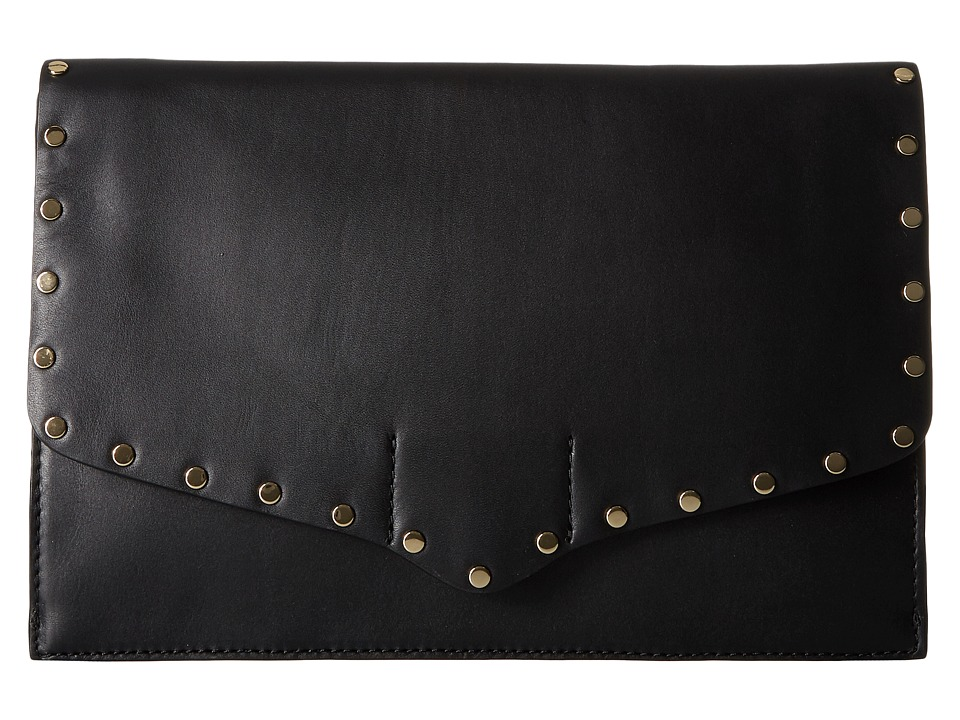 Rebecca Minkoff - Biker Clutch (Black) Clutch Handbags