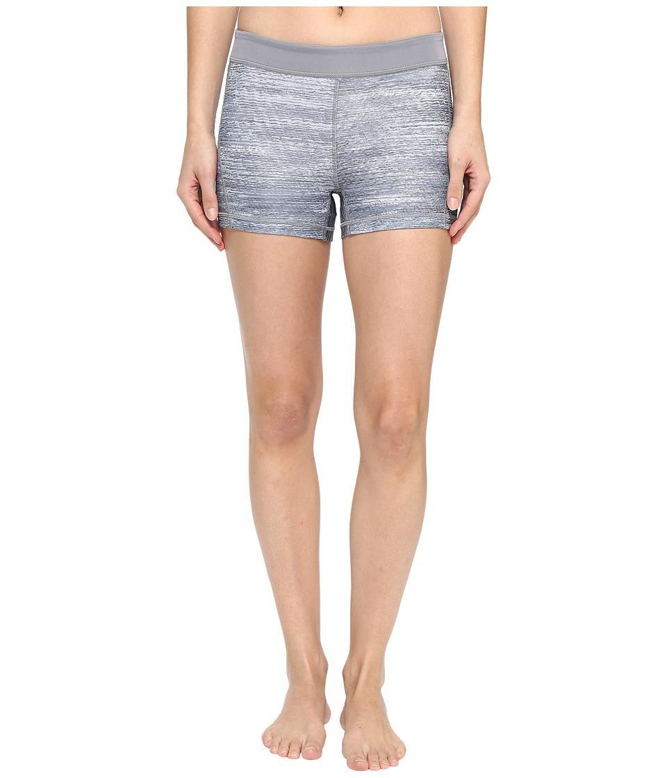adidas - Techfit 3 Macro Heather Short Tights (Grey/Print/Matte Silver) Women's Shorts