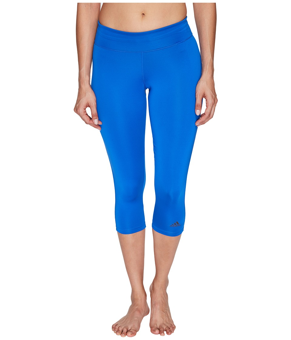 adidas - Designed-2-Move 3/4 Tights (Blue) Women's Casual Pants
