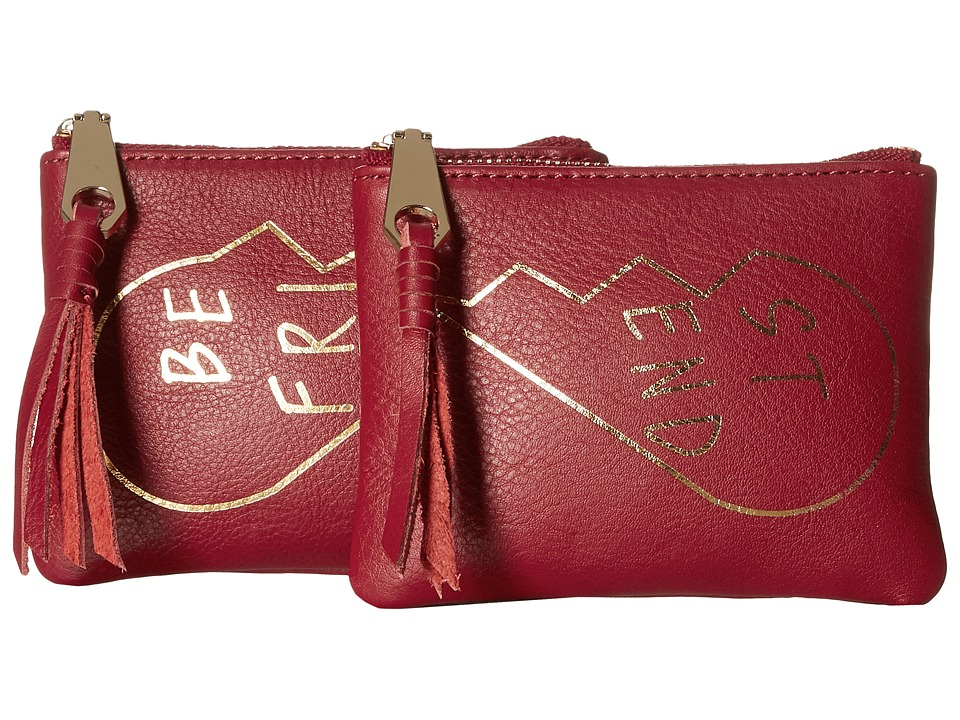 Rebecca Minkoff - Best Friends Pouch Set (Deep Red) Travel Pouch