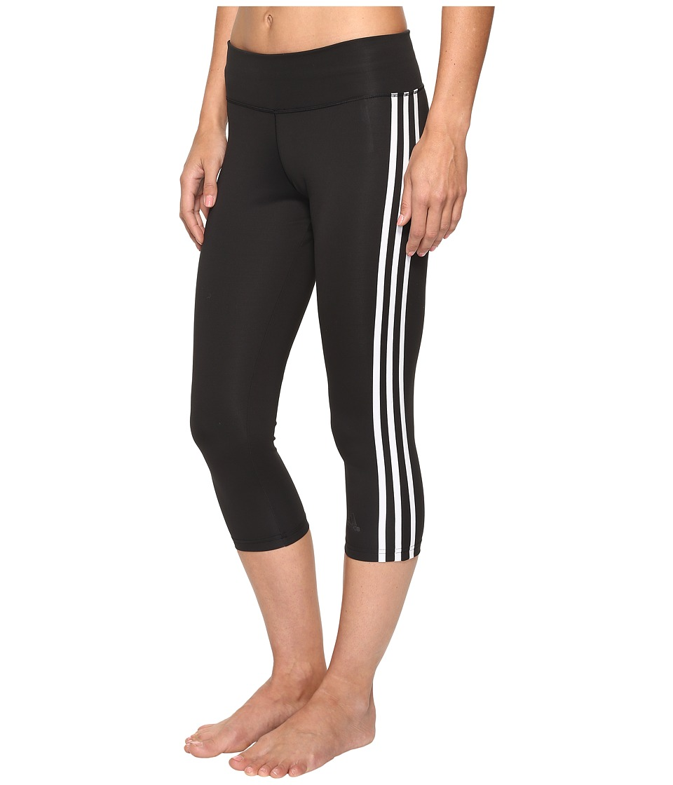 adidas - Designed-2-Move 3-Stripes 3/4 Tights (Black/White) Women's Casual Pants