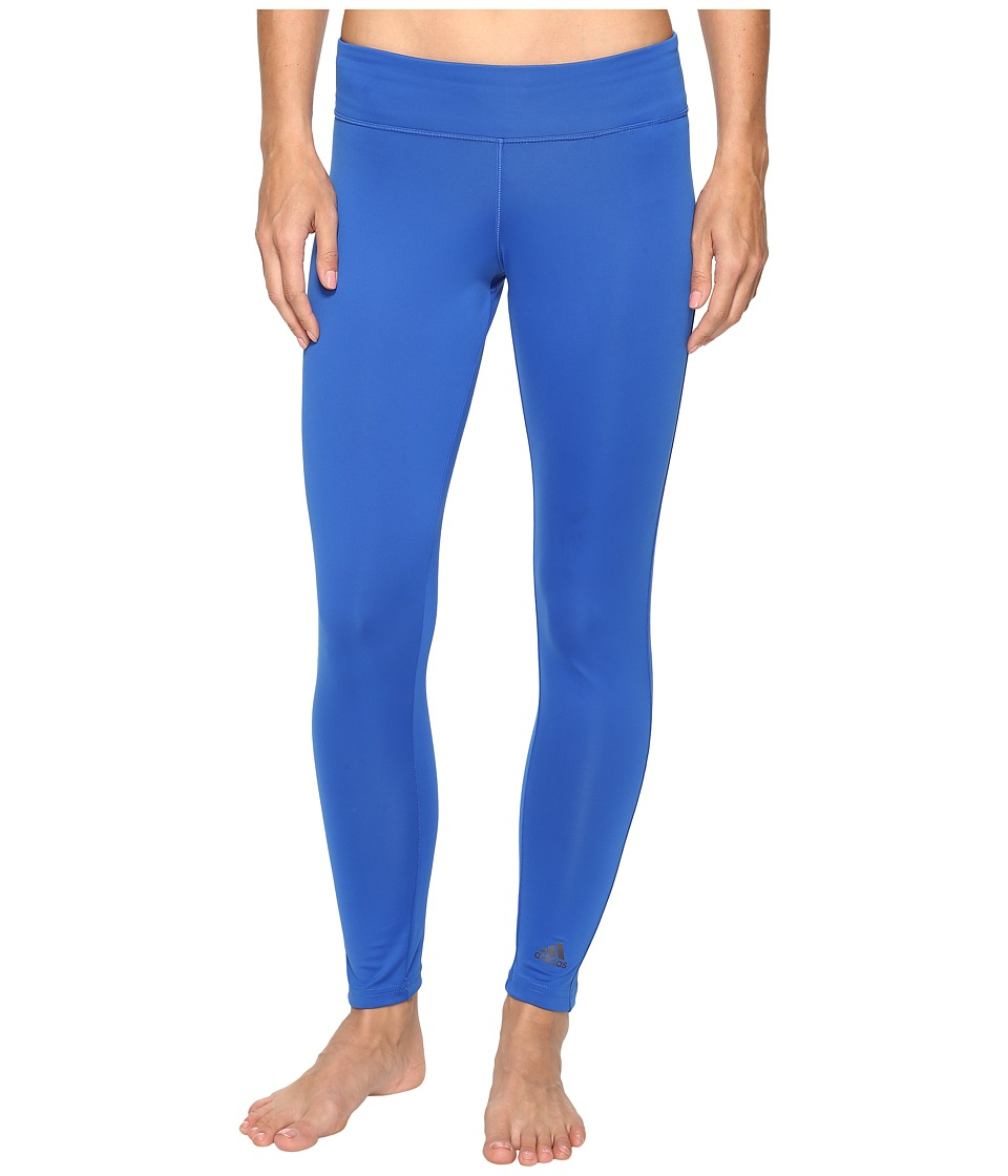adidas - Designed-2-Move Long Tights (Blue) Women's Casual Pants