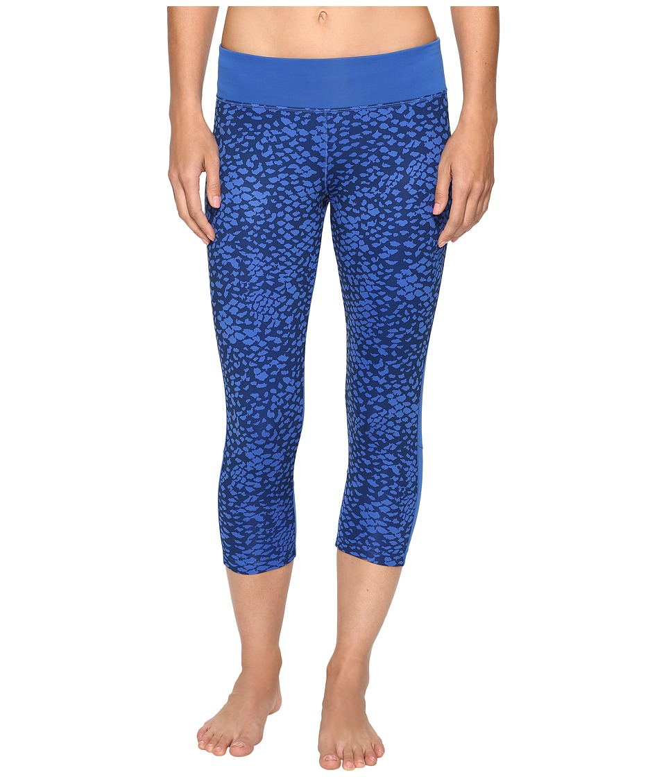 adidas - Designed-2-Move Boost Print 3/4 Tights (Print/Mystery Blue) Women's Casual Pants