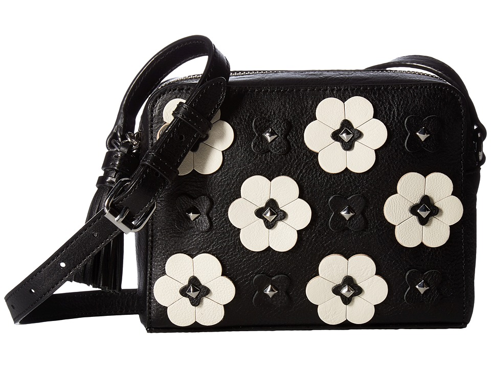 Rebecca Minkoff - Floral Applique Camera Bag (Black) Bags