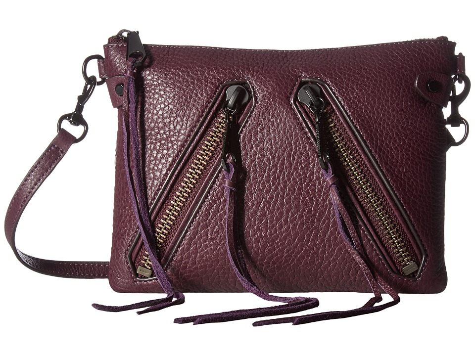 Rebecca Minkoff - Moto Jon Crossbody (Dark Cherry) Cross Body Handbags