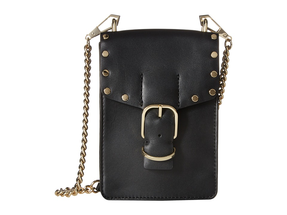 Rebecca Minkoff - Biker Phone Crossbody (Black) Cross Body Handbags