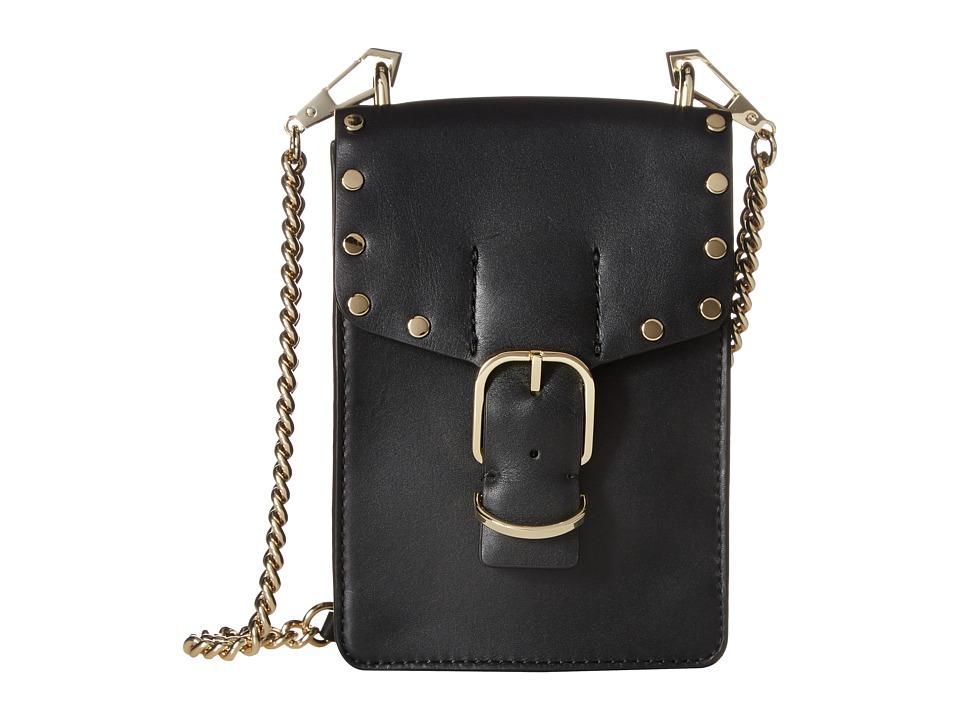 Rebecca Minkoff - Biker Phone Crossbody (Black) Cross Body Handbags