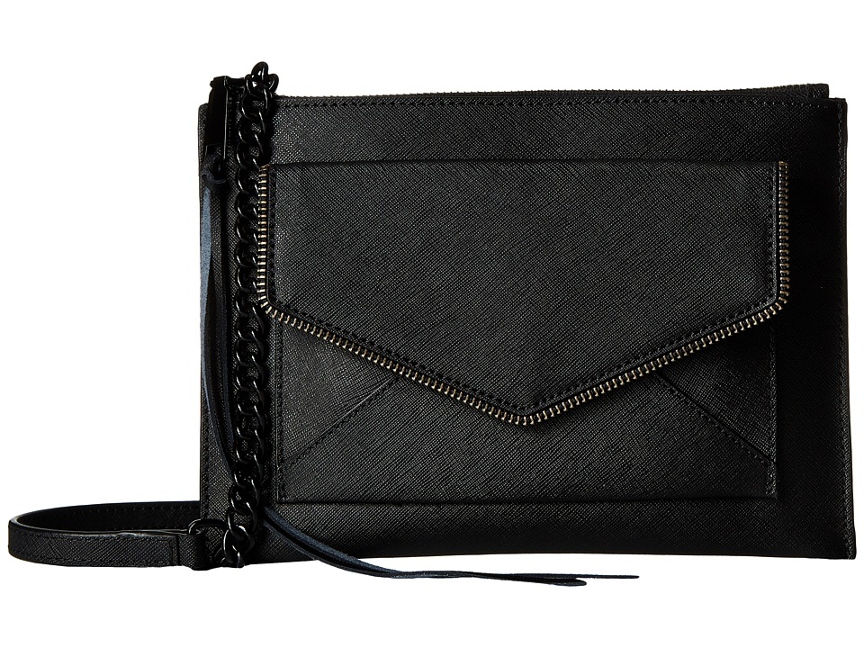 Rebecca Minkoff - Leo Flat Crossbody (Black) Cross Body Handbags
