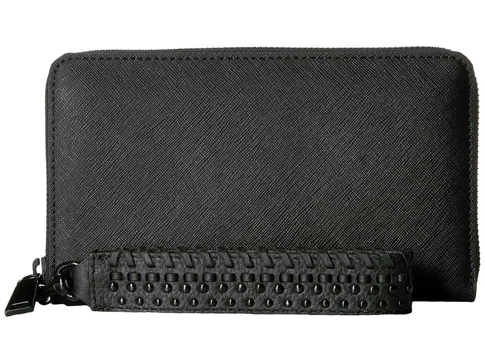 Rebecca Minkoff - Tech Wallet with Wristlet (Black) Handbags