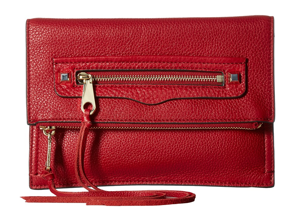 Rebecca Minkoff - Small Regan Clutch (Deep Red) Clutch Handbags