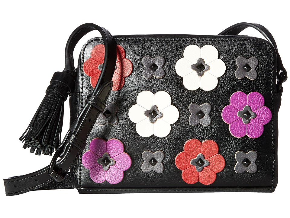 Rebecca Minkoff - Floral Applique Camera Bag (Black Multi) Bags
