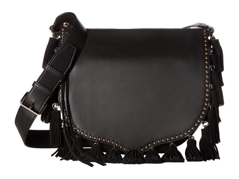 Rebecca Minkoff - Large Multi Tassel Saddle (Black) Handbags
